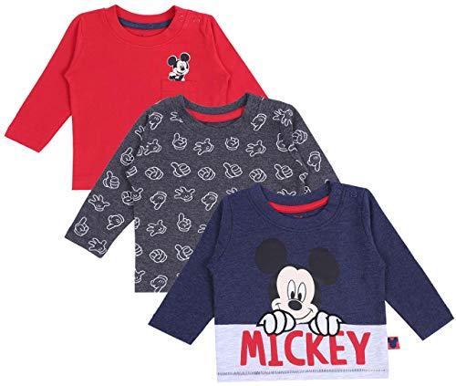 3 x t-Shirt Mickey Mouse Disney 0-3 Mois