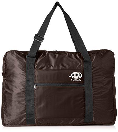 折り畳みボストンバッグ トラベルバッグ キャリーに通せる フォールディングバッグ FLY BAG-03 Lサイズ (ブラウン×ブラウン)