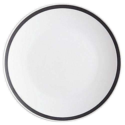 Petit déjeuner assiettes Charlton D. 27 cm Blanc avec bord Porcelaine Maxwell & Williams