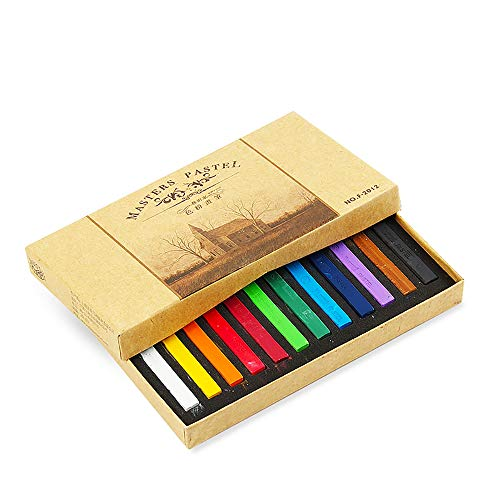 Artist Firm Pastel Color Sticks Temporary Hair Chalk Non-Toxic Rainbow Colored Dye Pastel Kit Essential (12 Colour)