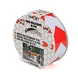TARGET CRE43350 - Cinta Reflectante - Roja y Blanca 33 Metros x 50 Milímetros -...