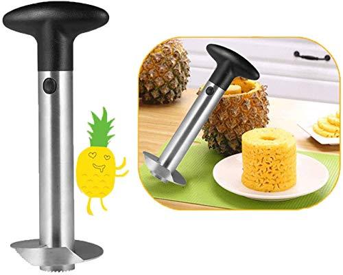 Cortador de piña, Newness Premium de piña, cortador de piña, herramienta para quitar el núcleo de piña de acero inoxidable para el hogar y la cocina con hoja afilada para anillos de frutas en dados