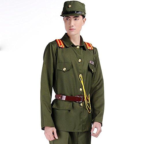 旧 日本軍 軍装 軍官下士官スーツ仮装 演劇 ハロウィーンhalloween男性用 男の子 (165cm)