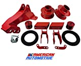 American Automotive Compatible F250 F350 F450 Super Duty Red 3.5' Front Leveling Lift Kit 4WD 'Road...
