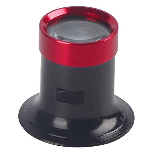 Salmue Lente d'Ingrandimento 10X, Lente d'Ingrandimento in Lega di Alluminio Riparazione per Lo Strumento dell'orologio Lente d'Ingrandimento monoculare per orologiaio