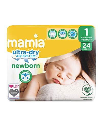 ALDI Mamia Neugeborene Windeln, Größe 1, (24 Windeln) Ultra Dry Air System