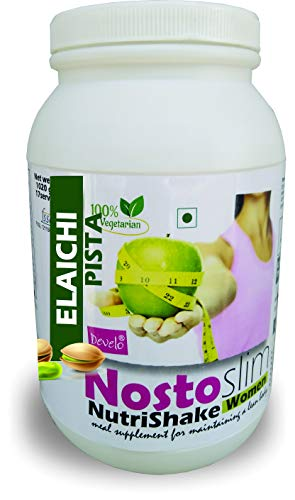 DEVELO NOSTOSLIM PROTEIN SUPPLEMENT POWDER FAT BURNER WEIGHT LOSS SLIMMING PRODUCT FOR WOMEN GIRLS [ELAICHI PISTA] 1020G