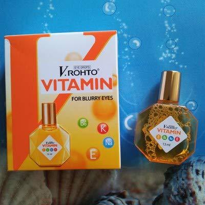 2 x VRohto Vitamin B6 K Na E Eye Drops 13ml for Blurry Fatigue Eyes