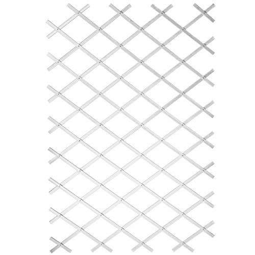 Ausziehbares Rankgitter Kunststoff weiß–100x 200cm