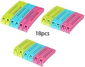 ABLE Multipurpose Food Snack Plastic Bag Clip Sealer/Packet Sealer Clamps/Manual Vacuum Bag Sealer/Food Pouch Clip/Bag Zipper for Home Kitchen (Multicolor) -18 pcs