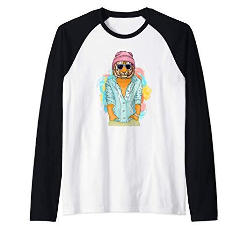 Tigre de Bengala Regalo Hombres Mujeres Nios Cool Tiger Camiseta Manga Raglan