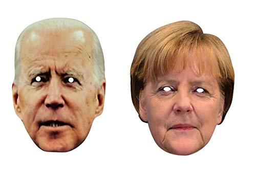 Thorness Joe Biden und Angela Merkel Politik Abendkleid Gesichtsmasken