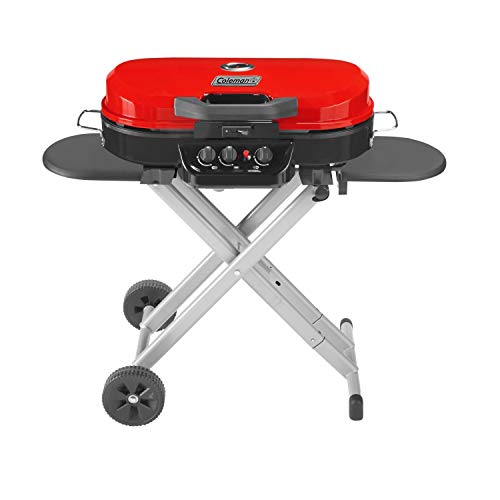 Coleman RoadTrip 285 Portable Stand-Up Propane Grill, Red
