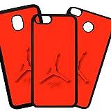 Tuscaprichosonline Fundas De Moviles Carcasas De Moviles Funda Carcasa Compatible con Huawei P8 Lite (2017) Modelo Marca Deporte Jordan Silueta roja sobre Rojo