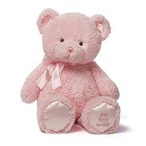 Gund My First Teddy - Oso de Peluche, 25 cm, Rosa (Spin Master 6052826)