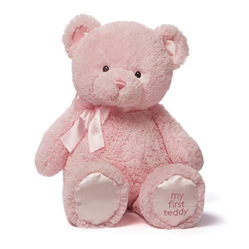 Gund My First Teddy - Oso de Peluche, 25 cm, Rosa (Spin