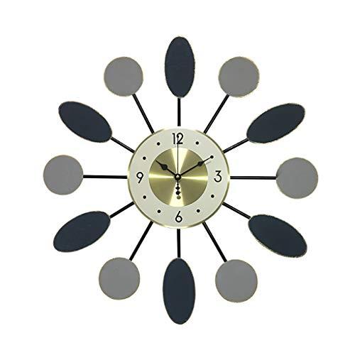 """MISLD Wanduhr, Leises Uhrwerk, Genaue Zeit, Dekorative Metallwanduhr 21,6"""", Arabische Zahlen Für Wohnzimmer, Schlafzimmer, Büroräume,B"""