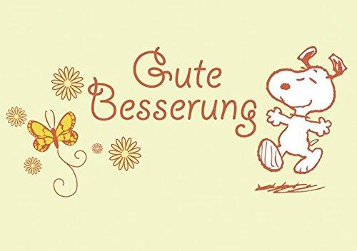 Peanuts Postkarte Gute Besserung (15cm x 10,5cm)