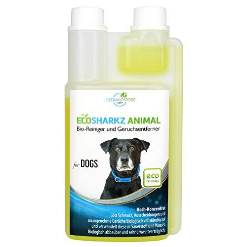 Bio – Detergente per la pulizia e neutralizzatore di odori per cani – Odore di rimozione di urina naturali e cani spazio (0,5 litri concentrato ergeben 25 litri gebrauchsfertigen urine odore)