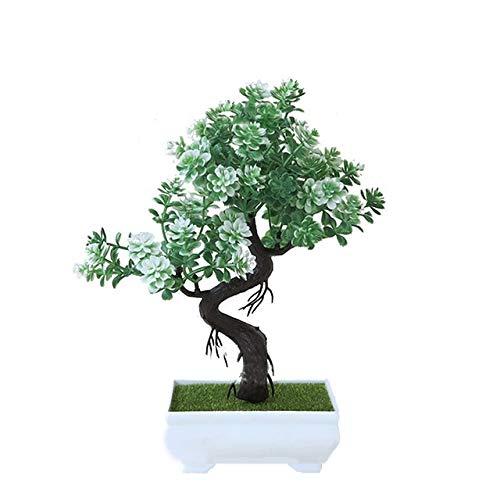 U/D Künstliche Pflanzen Kunststoff künstliche Pflanzen Kleiner Baum Topfpflanzen Gefälschte Anlagen Haushalt Hochzeit Wohnzimmer Hotel Garden Decor (Color : Olive, Size : Kostenlos)