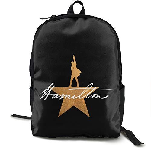 N / A Hamilton The Musical Paket Klassischer Rucksack Schultasche Schwarze Tasche Arbeitsreise Zur Polyester Unisex Schule