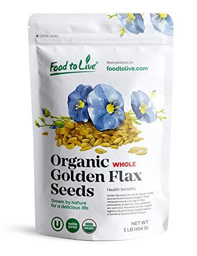 Organic Golden Flaxseed, 1 Pound