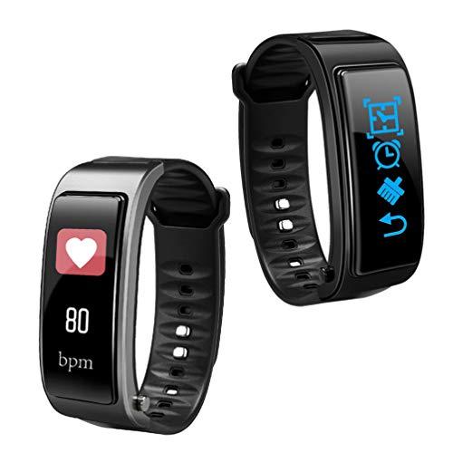 UKCOCO 1 stück y3 Plus smartwatch und kopfhörer 2 in 1 schrittzähler Monitor wasserdicht Fitness Tracker Armband smartwatch für Frauen Jungen Business Person schwarz