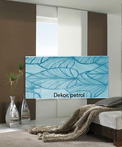 Maron Flächenvorhang Panel 60 x 245 cm Schiebe-Vorhang, Dekor Petrol