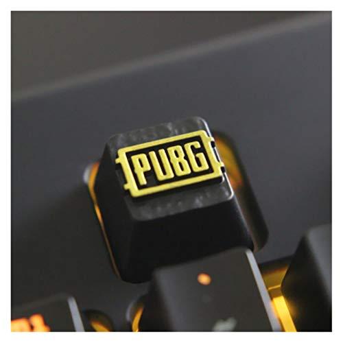 Conjunto de Llaves 1pc KeyCaps Personalizado en Relieve en Relieve de Aluminio metálico de Metal Teclado mecánico R4 Altura Botones Teclado keycaps (Color : 6)