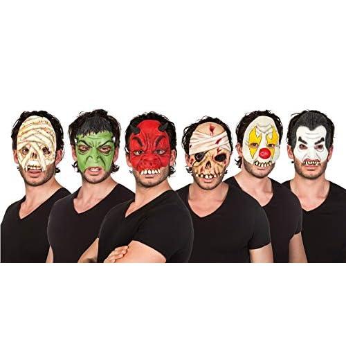 Maschera mezzo-viso Horror in lattice (soggetti assortiti)
