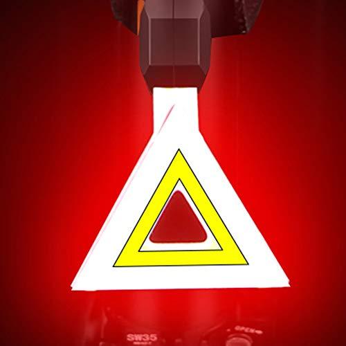 Huaatiear Luz Trasera para Bicicleta Recargable USB TIK Tuk Super Brillante Rojo Luz LED Bici Impermeable Faro Trasero Bici para Máxima Seguridad De Ciclismo -5 Modes Luz Bici De Montaña Y Carretera