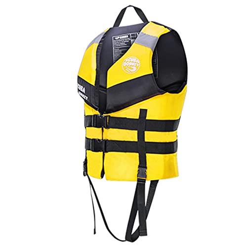 Pixier Chaleco Salvavidas De Neopreno Chaleco De Flotabilidad Sólido para Adultos Chaleco De Seguridad De Ayuda a La Flotabilidad De Kayak Chaleco De Kayak Deportivos Acuáticos Barco/Amarillo/XXL