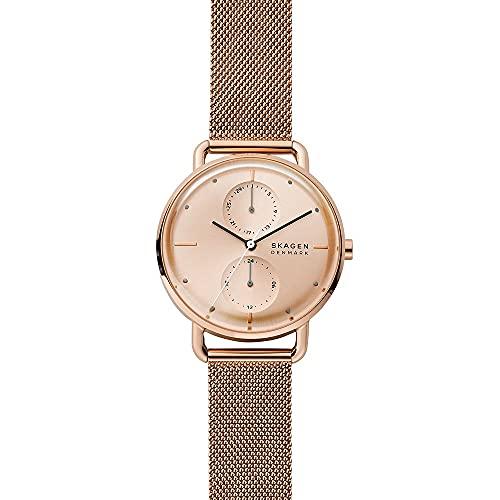 Skagen Damen Analog Quarz Uhr mit Edelstahl Armband SKW2931