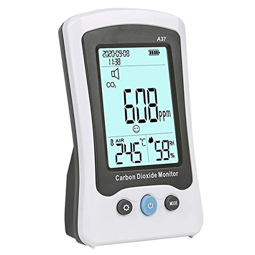 RSTJ-Sjap Kohlendioxid-Detektor CO2-Konzentrations-Luftqualitätsmonitor Mit Datum Der Temperatur- Und Luftfeuchtigkeit