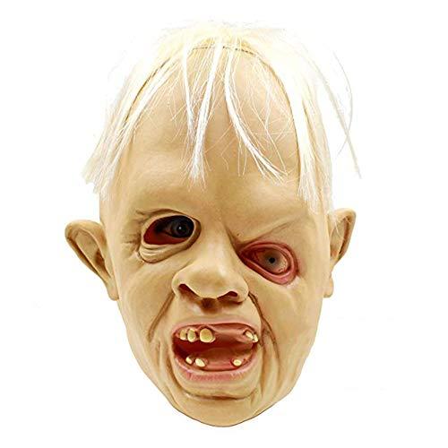 Fiesta de Disfraces de Halloween Máscara de Zombie Entrecerrar Los Ojos en Forma Máscara de Zombie de Látex Maquillaje Realista Accesorios de Decoración de Fiesta