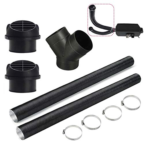75mm Car Auto Heater Pipe Duct Warm Air Outlet Vent Hose Clips, Y/T-Shaped Tee Telescopic Hose Extendable Parking Vent Hose,for Diesel Parking Heater Outlet Exhaust Connector
