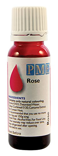 PME 100 % natürliche Lebensmittelfarbe - Rosé, 25 g