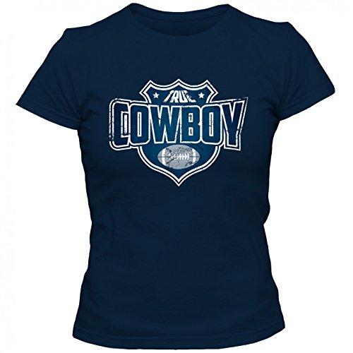 True Cowboy Premium T-Shirt | American FootballShirt | Super Bowl | NFL | Frauen | Shirt, Farbe:Dunkelblau (Navy L191);Größe:L