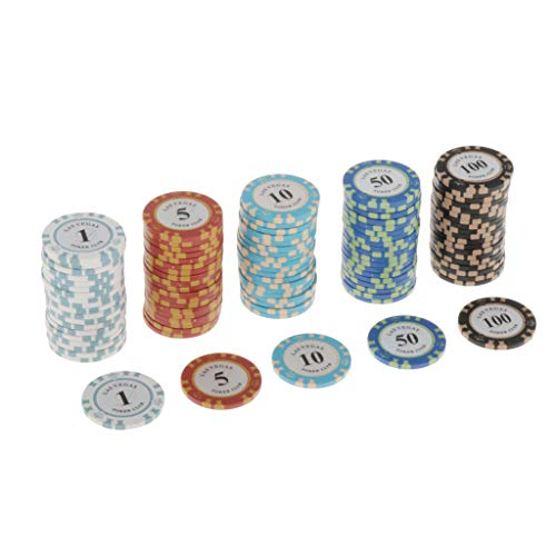 Dailymall Casino Poker Set - Clay Composite Chips for Playing Cards - for...
