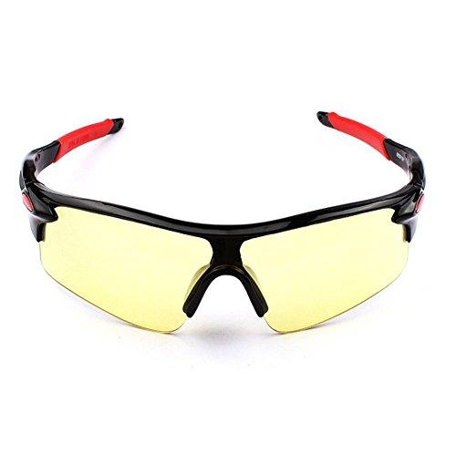 Toruiwa Sportbrille Sonnenbrille Damen Herren Fahrradbrille Outdoor Brille für Autofahren Laufen Radfahren Angeln Golf 14.7 * 4.4cm (H)