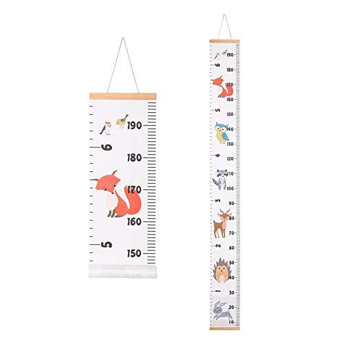 Xinzistar Messlatte Kinderzimmer Kinder Wachstum Messlatte Kind Holz Aufhängen Herrscher Wall Chart Höhe Diagramm Messleiste für Mädchen Junge Schlafzimmer Kinderzimmer (Tiere)