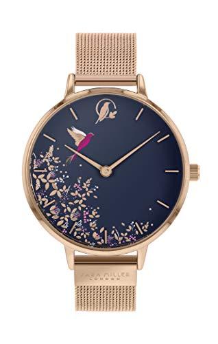 Sara Miller Chelsea Collection SA4006 Armbanduhr mit Netzband, rotvergoldet