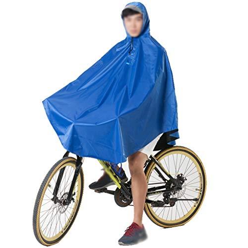 Zylxnt Regenmantel Poncho Erwachsene Männer und Frauen Mountainbike Fahrrad Regendicht atmungsaktiv Reiten Regenmantel (Color : Blue, Size : XXXL)