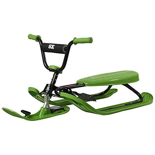 STIGA Schlitten Snowracer Rennrodel SX Color Pro Grün Lenkschlitten