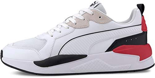 PUMA - Sneaker X-ray, Bianco (Puma White-puma Black-high Risk Rosso-grigio Viola), 41 EU