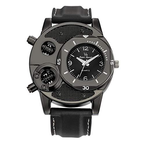 GuGio Mens Military Quartz Wrist Watch Big Face Analog Display Sport Watch