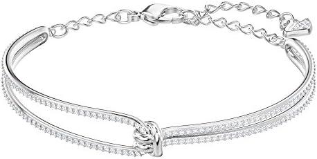 SWAROVSKI Women's Lifelong Crystal Bracelet Collection, Rose Gold Tone & Rhodium Finish
