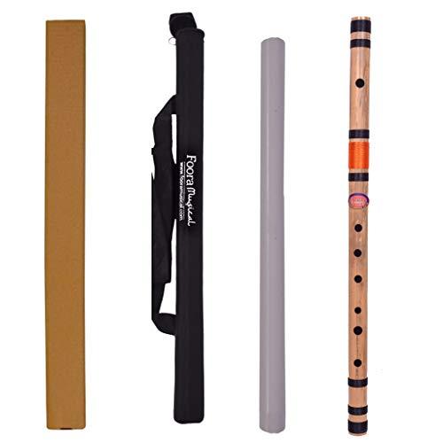 Foora® Musical C Natural Medium Bamboo Flute/Bansuri Size 19 inch (Best for...
