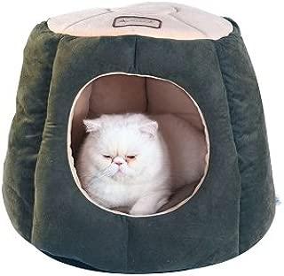 Armarkat Cat Bed - Laurel Green & Beige