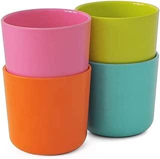 EKOBO Kids Bamboo 4-piece 8oz Cup Set, Gift Box, BIOBU Eco-material, Assorted Colors